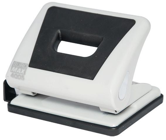 Дырокол 15 л Buromax пластик с резиновой вставкой серый BM.4005-09