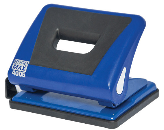 Дырокол 15 л Buromax пластик с резиновой вставкой синий BM.4005-02