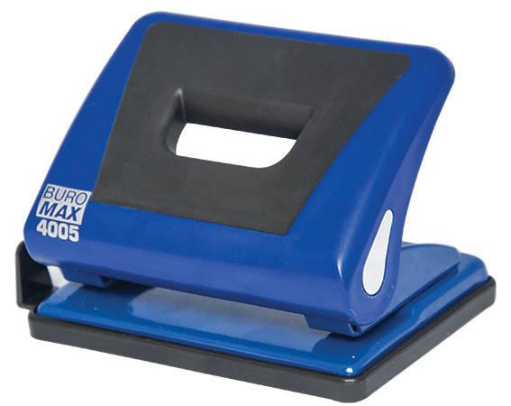 Дырокол 15 л Buromax пластик с резиновой вставкой синий BM.4005-02, фото 2