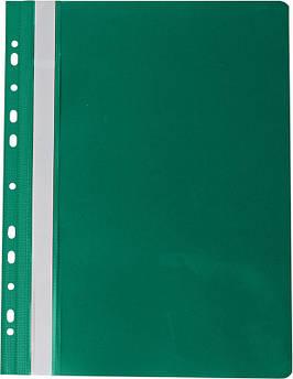 Скоросшиватель PROFESSIONAL А4.т.зеленый..11отв PVC