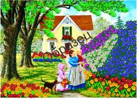 Схема для вышивки лентами «Великолепие цветов»