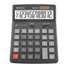 Калькулятор Brilliant 12 разрядов 2-питан. BS-555