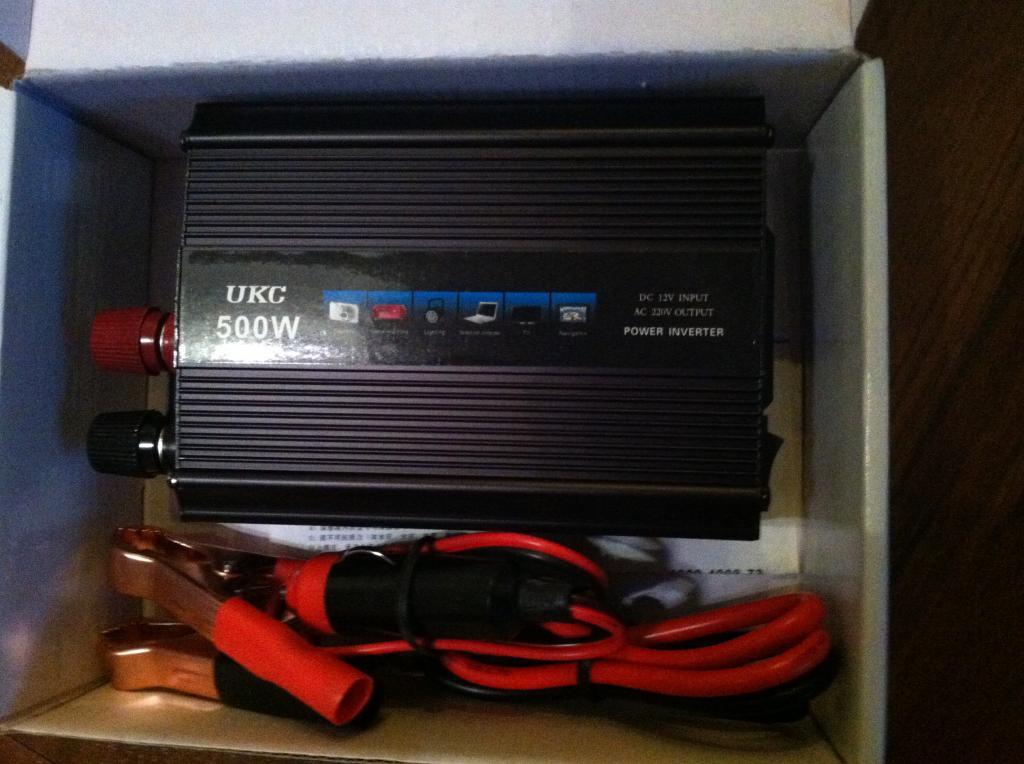 Преобразователь авто инвертор UKC 12V-220V, 500W