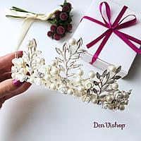 """Шикарная диадема """"Faritaly"""" для невесты, серебристая., фото 1"""