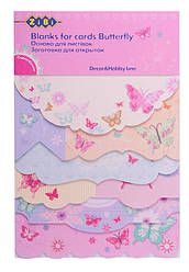 Заготовка ZiBi для открыток Butterfly 10.2x15.3см ZB.18215-AF