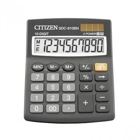 Калькулятор Citizen  10 разрядов SDC-810BII, фото 2