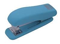 Степлер №24 Buromax RUBBER TOUCH 20л пластик. голубой BM.4202-14
