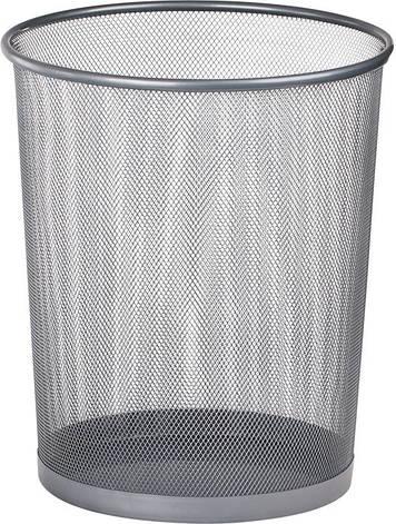Корзина офисная для бумаг Buromax метал. серебро 290x240x350мм BM.6270-24, фото 2