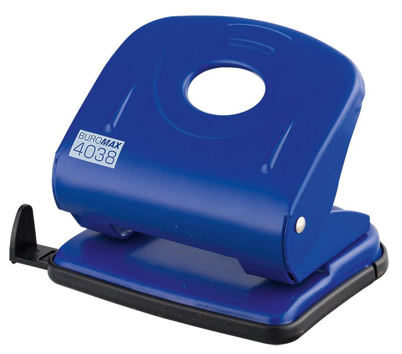 Дырокол 30 л Buromax металический синий BM.4038-02