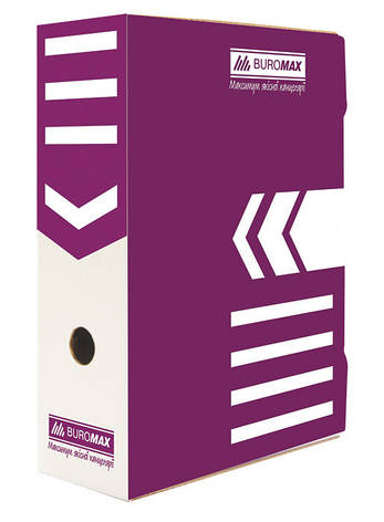 Бокс для архивации Buromax 100мм фиолетовый BM.3261-07, фото 2