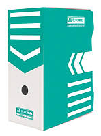 Бокс для архивации Buromax 150мм бирюзовый BM.3262-06