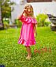 Сарафан детский Волан Однотонное 6 цветов Супер качество ткань софт 104-110, 110-116, 116-122, 92-100, фото 5