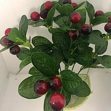 Искусственный куст с ягодами.Декоративный боярышник., фото 3