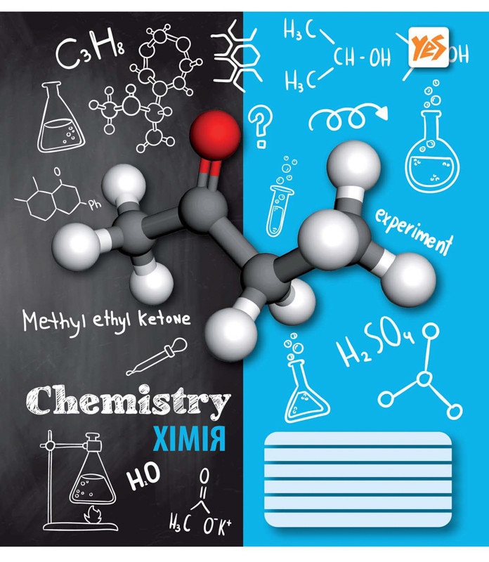 Предметная тетрадь химия 48 л. Yes А5 Sketch science 761276