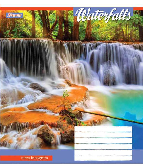 Тетрадь в линию 48 л. 1 Вересня А5 Waterfalls-2018 762742