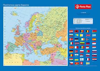 Подложка настольная PANTA PLAST 590x415мм Карта Европы 0318-0037-99