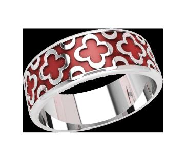 Кольцо  женское серебряное Enamel 21162