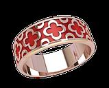 Кольцо  женское серебряное Enamel 21162, фото 2
