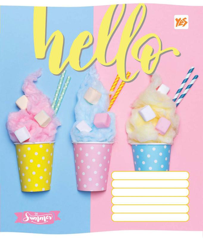 Тетрадь в клетку 96 л. Yes А5 Hello ice-creame 762223