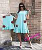 Платье детское Роза  с воланами 4 цвета Супер качество ткань костюмка 104-110, 110-116, 116-122, 92-100, фото 2