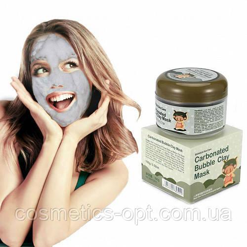 ПРИМЯТАЯ КОРОБОЧКА! Маска для лица BIOAQUA Carbonated Bubble Clay Mask