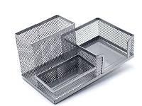 Подставка органайзер Axent 203x105x100мм метал серебрянная 2116-03-A