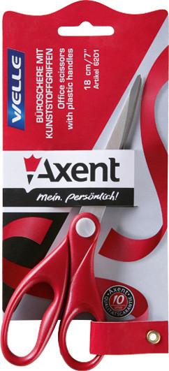 Ножницы Axent Welle 20см канцелярские красные 6202-06-А