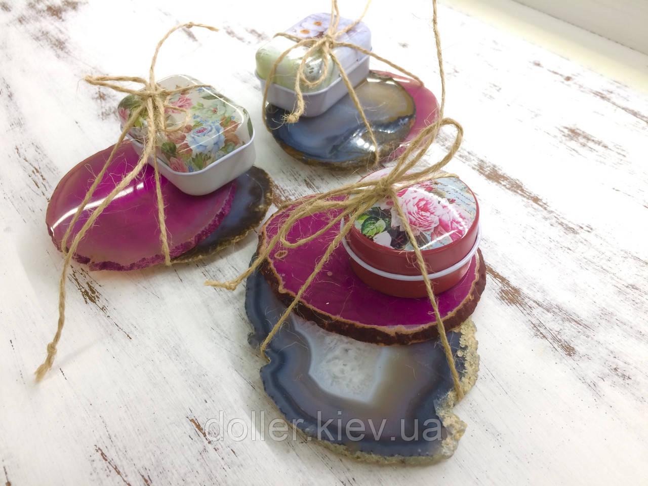 Подарочный чайный набор на 2 персоны (бежевые оттенки)