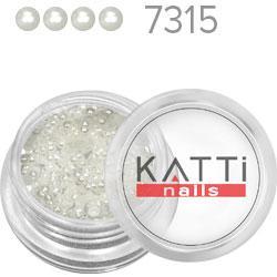 KATTi Жемчуг банка смола Pearls 7315 white 2мм 0,6g 250шт