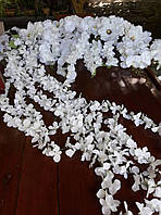 Гирлянда белая цветочная свадебная