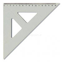 Линейка-треугольник Koh-i-noor 45/177 акрил прозрачный 744150