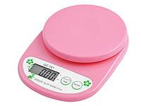 Ваги кухонні QZ-161, 5 кг (1г)  Рожевий