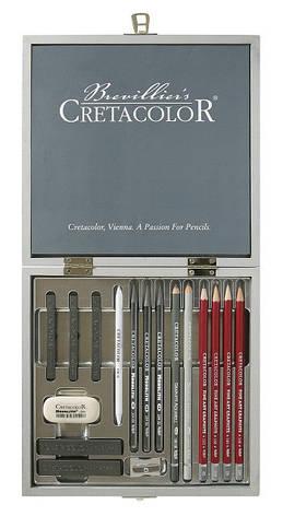 Набор для графики Silver Box 17 шт. дер упаковка Cretacolor, фото 2
