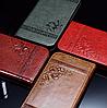 Кожаный чехол-книжка для iPhone 5 5S красный, фото 4
