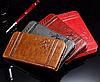 Кожаный чехол-книжка для iPhone 6 6S бордовый, фото 4