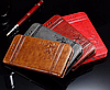 Кожаный чехол-книжка для iPhone 6 6S коричневый, фото 3