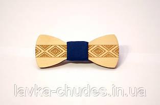 Детская деревянная галстук - бабочка орнамент