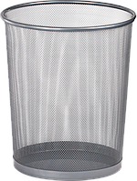 Металлическая круглая корзина buromax bm.6270-24 серебристая
