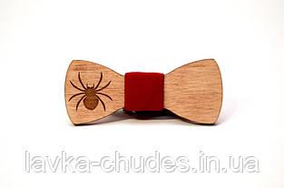 Детская деревянная галстук - бабочка паук