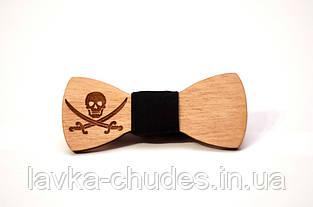 Детская деревянная галстук - бабочка пират