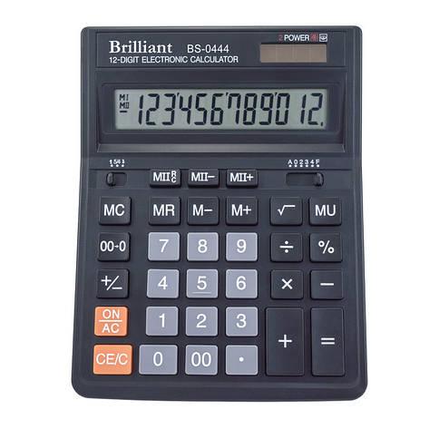 Калькулятор Brilliant 12 разрядов 2-питан. BS-0444, фото 2