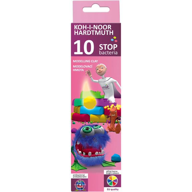 Пластилин Koh-i-noor Stop bacteria 10 цветов антибактериальный 200г 131810