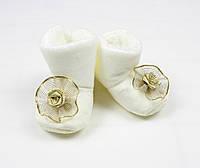 Утепленные пинетки для новорожденных с нескользящей подошвой, фото 1