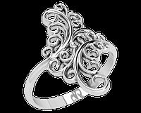 Кольцо  женское серебряное Вензеля 21165