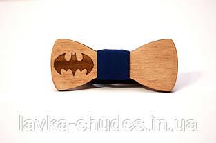 Детская деревянная галстук - бабочка бэтмен