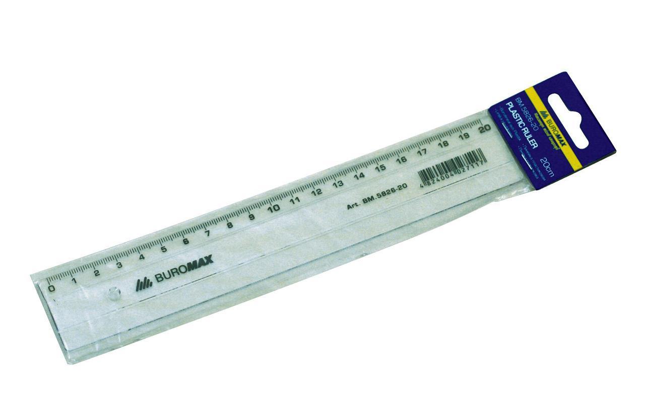 Линейка 50см Buromax пластик прозрачная BM.5826-50