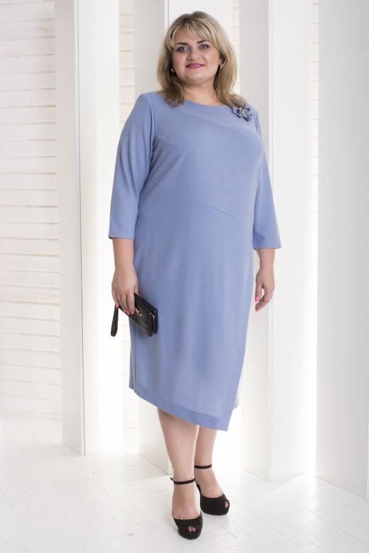 """Женское платье """"Ингрид"""" больших размеров (791И)"""