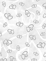 Велум полупрозрачный Heyda Сердца Серебрянный 21х29.7см 115г/м2 4005329078484