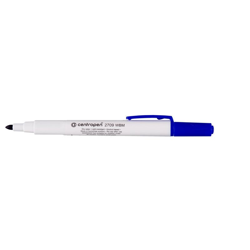 Маркер для досок Board Centropen 1-2 мм круглый синий 2709/03