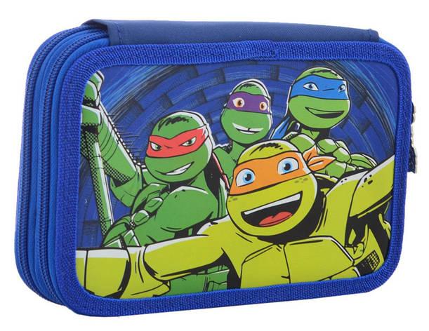 Пенал твердий 1 Вересня 2 отд. Ninja Turtles 531758, фото 2